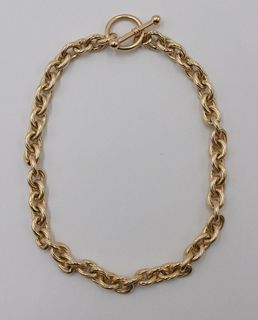 14k Yellow Gold Toggle Chain Necklace