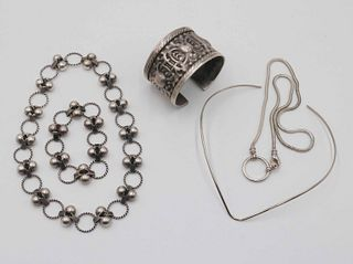 Holston Sterling Ball &Link Necklace and Bracelet