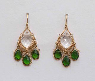 Anthony Nak 18k Gold Dangle Earrings