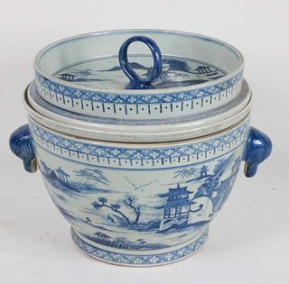 Large Chinese Blue-and-White Covered Jar