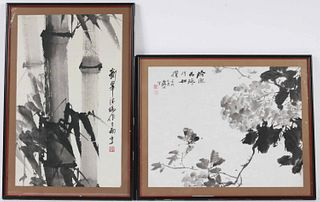 Two Chinese Ink and Wash on Paper