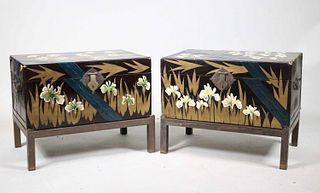 Two Chinoiserie-Decorated Lift Top Boxes