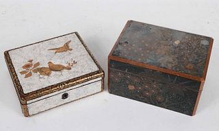 Two Asian Lacquer Boxes