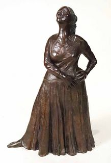 "Cast Bronze Sculpture, ""Natoma"" R.C. Gorman"