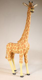 Leroy Archuleta, Carved and Painted Giraffe