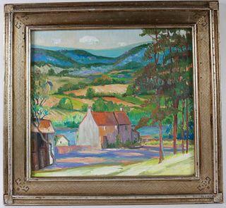 Joseph Barrett, Oil on Canvas, Lahaska, PA
