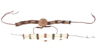 Native American Style Bone Hair Pipe Necklaces