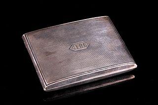 Art Deco Sterling Cigarette Case by Kerr & Co.