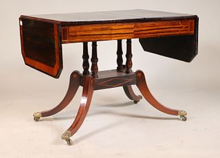 Regency Inlaid Calamander Sofa Table