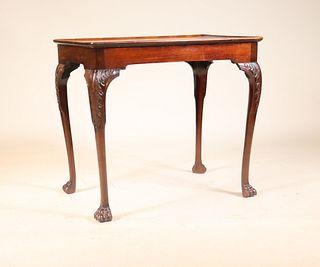 George II Carved Mahogany Tray Top Tea Table