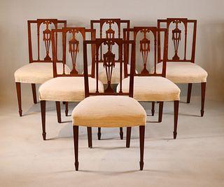 "Six Federal ""Prince of Wales"" Mahogany Chairs"