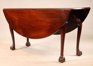 Chippendale Mahogany Drop Leaf Dining Table