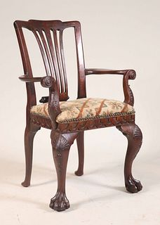 George II Carved Mahogany Child's Armchair