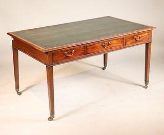 George III Mahogany Partner's Writing Table Desk