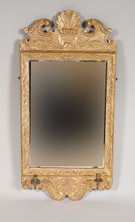 George I Incised Giltwood Two-Light Mirror