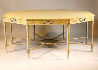George III Style Painted Octagonal Center Table