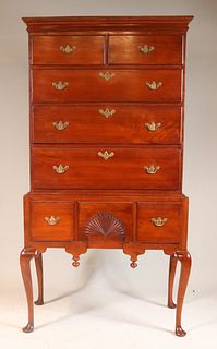 Queen Anne Cherrywood High Chest of Drawers