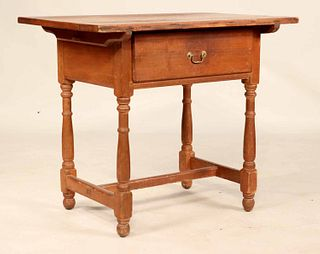 Queen Anne Red-Stained Pine&Gumwood Tavern Table