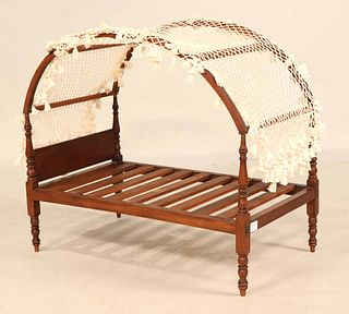 Federal Turned Mahogany Miniature Tester Bedstead