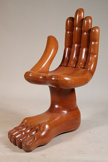 """Standing Ovation"" Hand and Foot Chair"