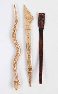 Pacific Northwest Carved Bone Snake
