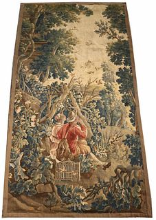 Continental Tapestry, Courting Couple with Birds