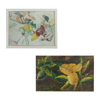Lote de 2 obras. Consta de: a) Spookstill Sin título Firmada. Técnica mixta adherido a rígido. Enmarcada. 90 x 121 cm Otro.