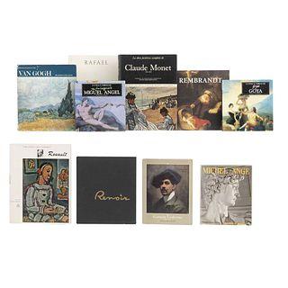 LIBROS SOBRE ARTE EUROPEO. a) La Vida y Obra de Goya. b) Michel-Ange. Peintre, Sculpture, Architecthe. Piezas: 10.