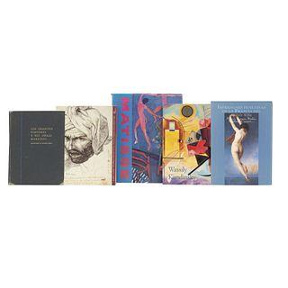 LIBROS SOBRE ARTE RUSO Y FRANCÉS. a) A Retrospective. b) De David a Matisse. c) Impresiones Femeninas. Piezas: 5.