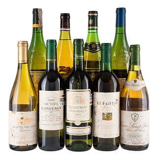 Vino Blanco de Francia y España. a) Cuvée Saint Pierre. b) Sichel. Total de piezas: 9.