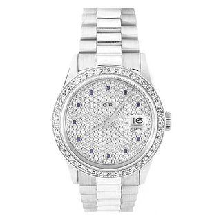 Man's GR Diamond and 18K Watch