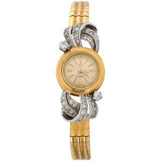 Omega 18K and Diamond Watch