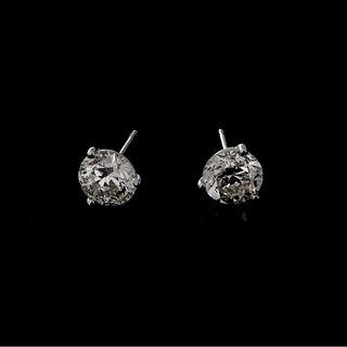 GIA 3.38ct TW Diamond Ear Studs