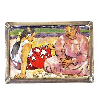 After: Paul Gauguin (1848 - 1903) Enamel on Copper