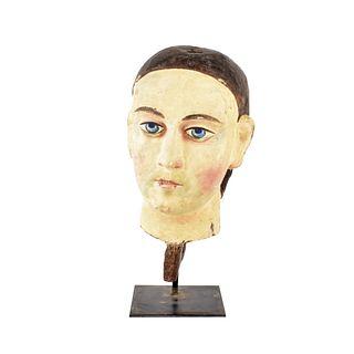 20th C. Folk Art Carved Bust
