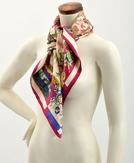 "Hermes ""Fantaisies Indiennes"" Silk Scarf"