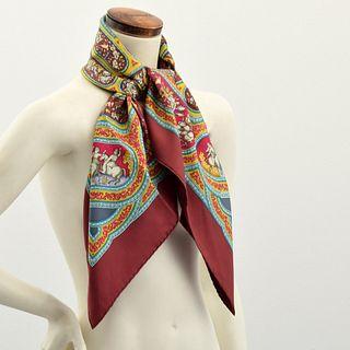 """Hermes """"Qalamdan"""" Silk Scarf"""