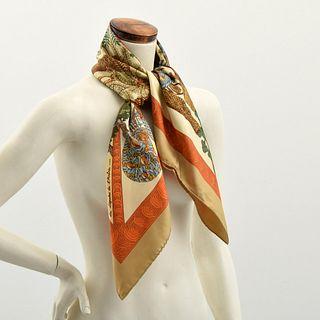 """Hermes """"Les Legendes de L'Arbre"""" Silk Scarf"""