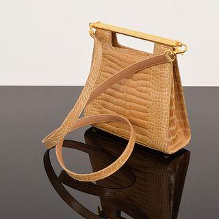 Helene Alligator Clutch/Shoulder Bag