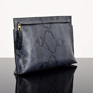 Loewe Large Snakeskin Pouch
