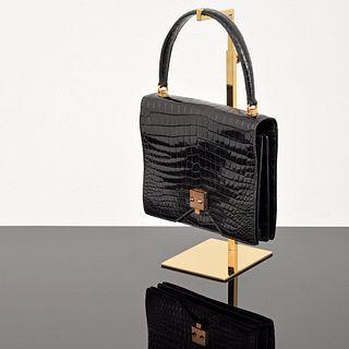 """Hermes Crocodile Rare Vintage """"Sac G7"""" Bag"""