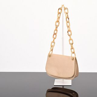 Prada Madras Swing Chain Link Shoulder Bag