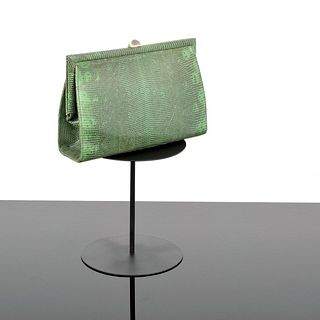 Suarez Lizard Frame Clutch/Shoulder Bag
