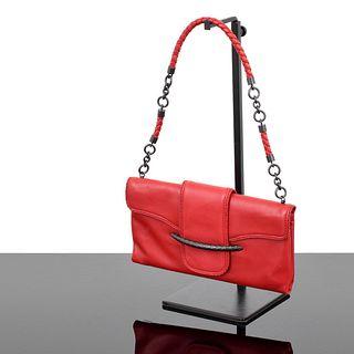 Bottega Veneta Intrecciato-Trimmed Handbag
