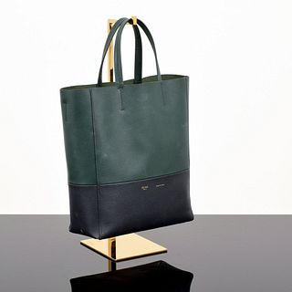 "Celine Bicolor ""Vertical Cabas"" Tote Bag"