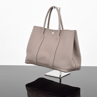 "Hermes ""Garden Party 36"" Leather Tote Bag"