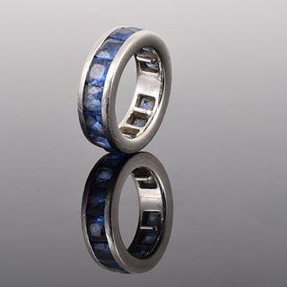 Platinum & Sapphire Ring