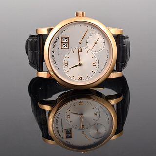 "A. Lange & Sohne ""Lange 1"" 18K Gold Watch"