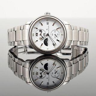 "Blancpain ""Leman"" Day/Night Chronograph Watch"