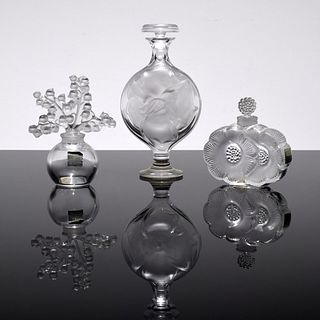 3 Lalique Perfume Bottles